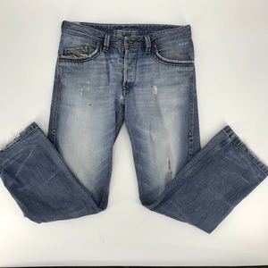 Diesel Busky Relaxed Straight Jeans Distressed